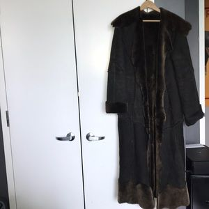 Jackets & Blazers - Genuine Merino Wool Custom Made Shearling Coat XL